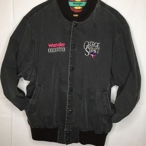 Wrangler George Strait Embroidered Black Jacket XL